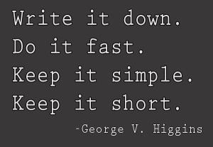 Goerge V. Higgins quote