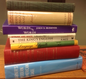 Some of the language books I consulted for this post.
