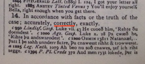 """One sense of the word """"right"""" as found in the Oxford English Dictionary."""