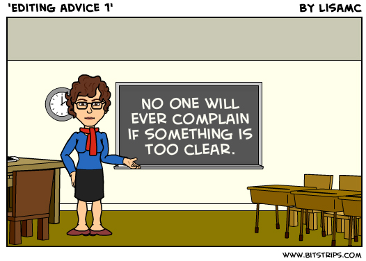 Editing advice 1